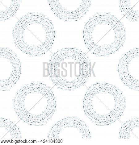Screen Printing Seamless Pattern. Radiant Abstract Frame. Circular Pattern. Pop Art Round Halftone,