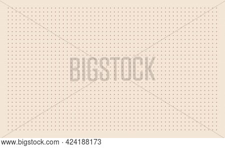 Grid Paper. Dotted Grid On Beige Background. Abstract Dotted Transparent Illustration With Dots. Whi
