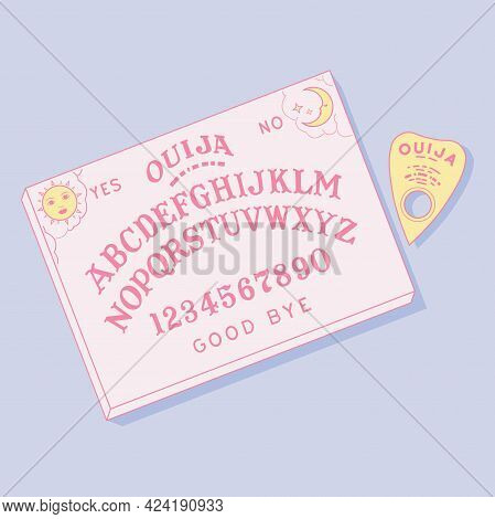 Ouija Board With A Planchette For Spiritism
