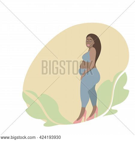 Large Size Dark-skinned Woman. Luscious Abstract Woman Of Sizes.