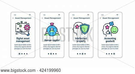 Asset Management Onboarding Mobile App Screens.human Capital.intellectual Property.accounting Goodwi