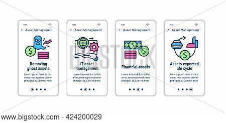Asset Management Onboarding Mobile App Screens.removing Ghost Assets. It Management, Life Cycle.cont