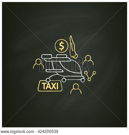 Free Air Taxi Chalk Icon. Modern Technologies. Future. Available Services.digital Transformation Con