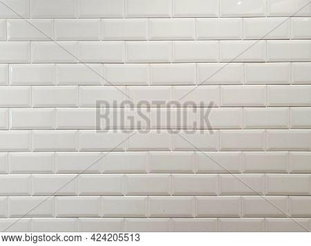 White Wall Tiles. White Wall Tunnel. Kitchen Stove. White Ceramic. White Ceramic Background.