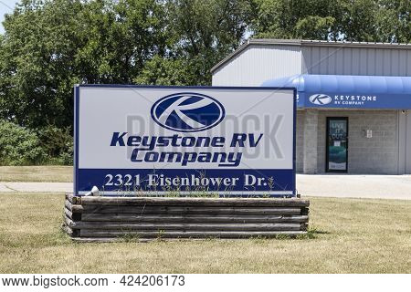 Goshen - Circa June 2021: Keystone Rv Company Location. Keystone Rv Is A Subsidiary Of Thor Industri