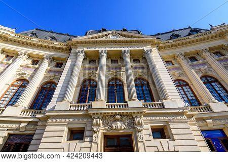 Bucharest, Romania, 8 November 2020: The Main Building Of The Central University Library In Calea Vi