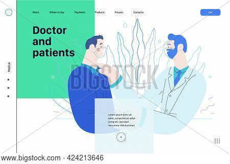 Doctor And Patients - Medical Insurance Web Tamplate