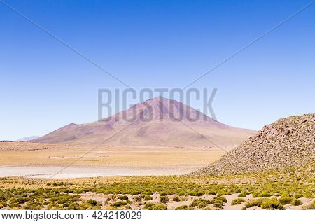 Bolivian Mountains Landscape,bolivia. Andean Plateau View.volcano View