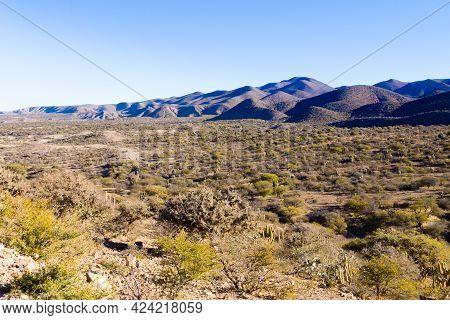 Bolivian Mountains Landscape,bolivia.road From Potosi To Tupiza