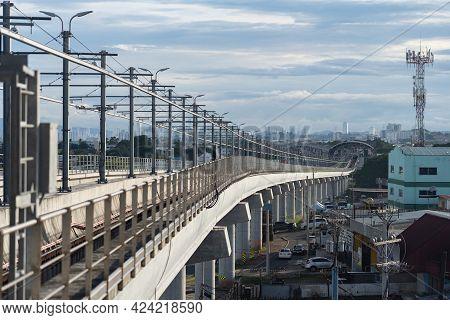 2021 Jun 8. Don Bosco Metro Staton. Metro Bridge In Panama City. Transportation Concept
