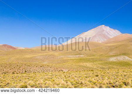 Bolivian Mountains Landscape,bolivia.andean Plateau View.san Antonio Volcano