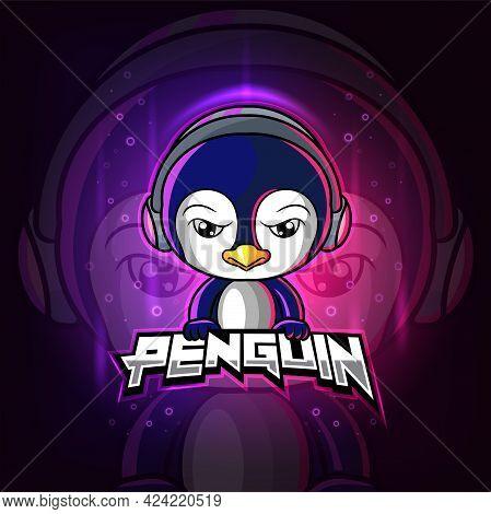 The Penguin Mascot Esport Logo Design Of Illustration