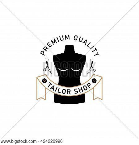 Template Logo Tailor Shop. Simple Tailor Logo