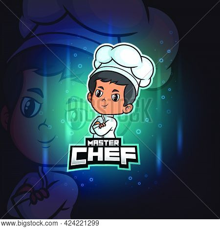 The Master Chef Mascot Esport Logo Design Of Illustration