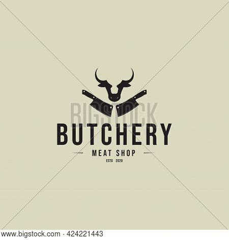 Butchery - Vintage Logo Concept. Butcher Shop Logo.