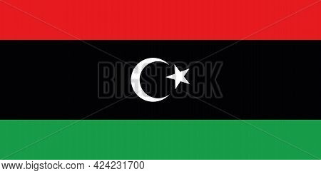 National Flag Of The Country Of Libya. Libya State Flag. State Symbol. National Holiday . Libyans. N