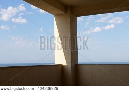 Beautiful See View From A Balcony Located In Vama Veche Romania
