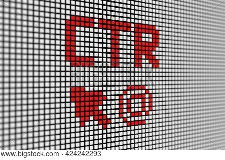Ctr Text Scoreboard Blurred Background 3d Illustration