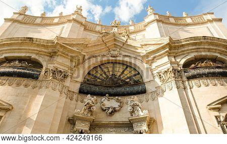 Catania, Sicily. Chiesa Della Badia Di Sant'agata. It's One Of The Most Iconic Baroque Monuments Of