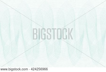 Light Teal Line Art Repeated Pattern. Watermark Design. White Background. Vector Abstract Subtle Cur