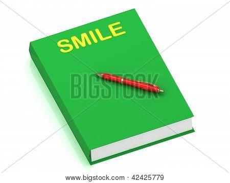 Smile Inscription On Cover Book