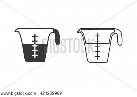 Pictograph Of Measurement Jar For Template Logo, Icon Set, And Identity Vector Designs