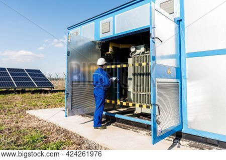 Execution Of Electrical Measuring Works On The Power Transformer