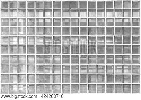 White Translucent Glass Block Wall Pattern And Background Seamless