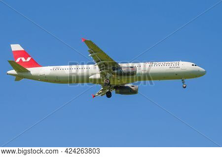 Saint Petersburg, Russia - May 29, 2021: Airbus A321-232 (vp-bgh) Of The Nordwind Airlines In The Bl