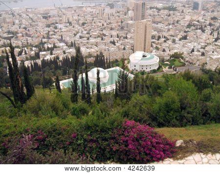 Aerial View Of Haifa City, Israel.