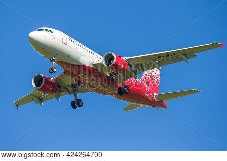 Saint Petersburg, Russia - October 28, 2020: Airbus A319-115lr