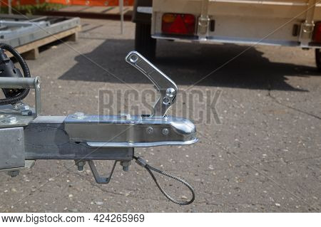 A Store That Sells Trailers.car Open Trailer. Transport For Cargo Transportation.