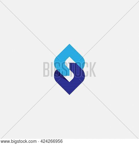 Letter S Chain Logo, Simple Monogram Icon Initial S And Chain.
