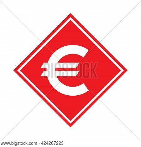 Euro Money Symbol, Business Cash Icon, Save Currency Bank Sign, Vector Illustration Isolated Backgro