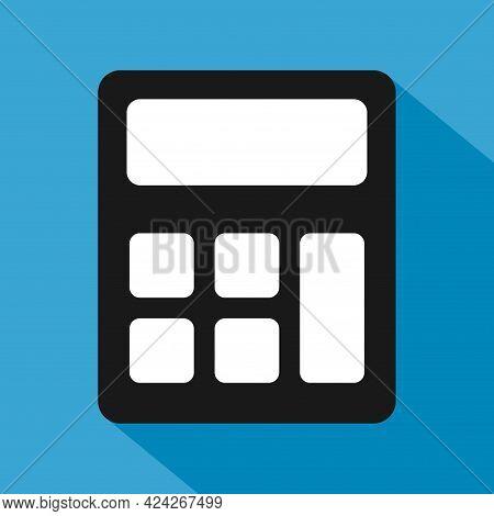 Calculator Icon, Mathematics Web Button Vector Illustration. Internet Website Finance Technology Des