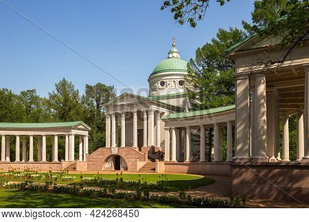 Temple-burial Vault (colonnade) In The Estate Arkhangelskoye, Moscow Region, Russia