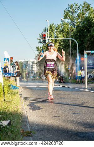 3 Rd Wizz Air Katowice Half Marathon, Katowice, Silesia, Poland.  June 19, 2021. Katowice Waterworks