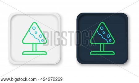 Line Road Sign Avalanches Icon Isolated On White Background. Snowslide Or Snowslip Rapid Flow Of Sno