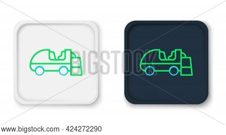 Line Ice Resurfacer Icon Isolated On White Background. Ice Resurfacing Machine On Rink. Cleaner For