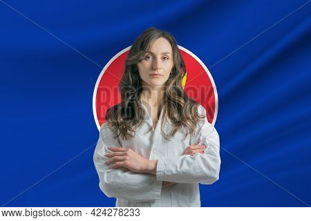 Medicine In Association Of Southeast Asian Nations. Happy Beautiful Female Doctor In Medical Coat St