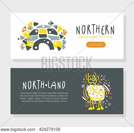 North Land Landing Page Template Design, Wild North Discovery Expedition, Exploration, Outdoor Wilde