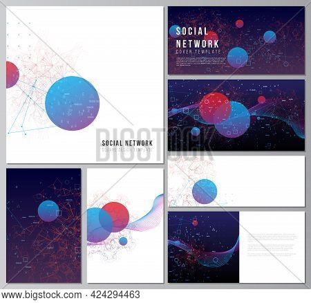 Vector Layouts Of Social Network Mockups For Cover, Website Design, Website Backgrounds Or Advertisi