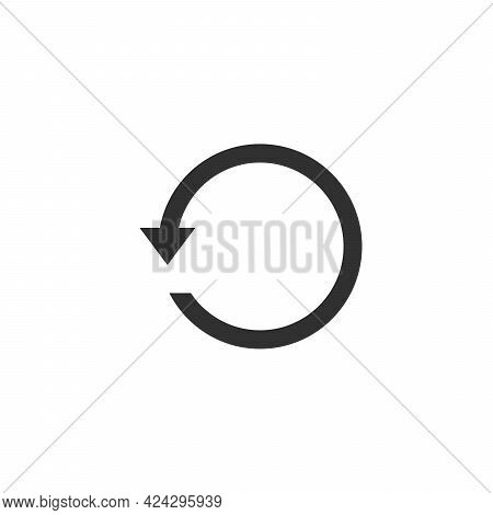 Circle Arrow Back, Undo Icon, Back Arrow Symbol. Stock Vector Illustration Isolated On White Backgro