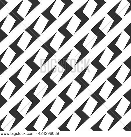 Thunderbolt Seamless Pattern Background. Ornament Can Be Used For Gift Wrapping Paper, Pattern Fills