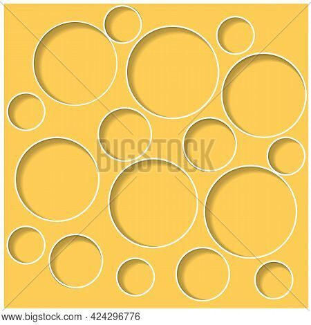 Trendy Abstract Design Template With Circles On Light Background. Geometric Background. Vector Patte