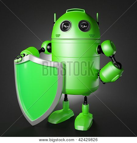 Android Guard With Shield