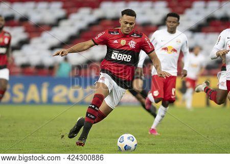 Rio, Brazil - June 19, 2021: Rodrigo Muniz Player In Match Between Flamengo Vs Bragantino By 5st Rou