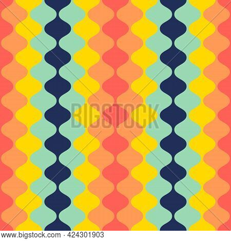 Abstract Geometric Shape Seamless Pattern Design Background. Graphic Design Element Can Be Used For