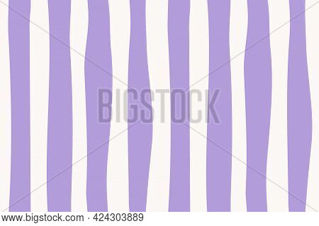 Abstract Seamless Pattern. Limitless Stylish Minimalistic Background With Hand Drawn Bold Stripe Rep
