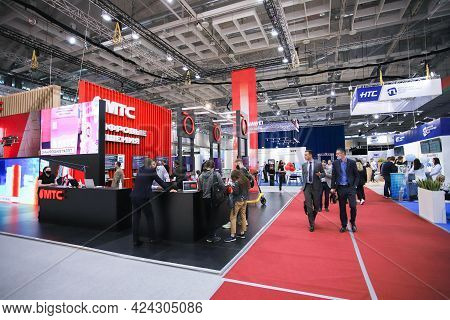 Minsk. Belarus - 05.31.2021 - Pavilions At The Exhibition, General Plan. Pavilions At The Tibo Exhib